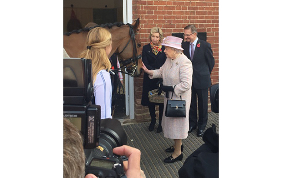 Her Majesty The Queen at the National Heritage Centre for Horseracing & Sporting Art